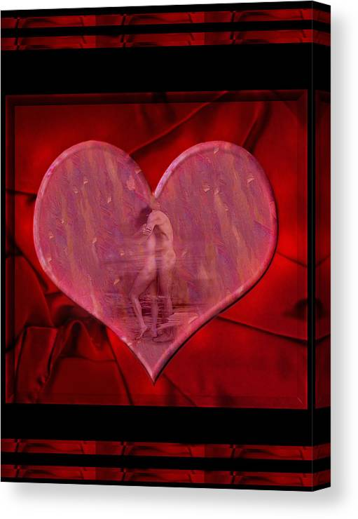 Nude Canvas Print featuring the photograph My Hearts Desire by Kurt Van Wagner