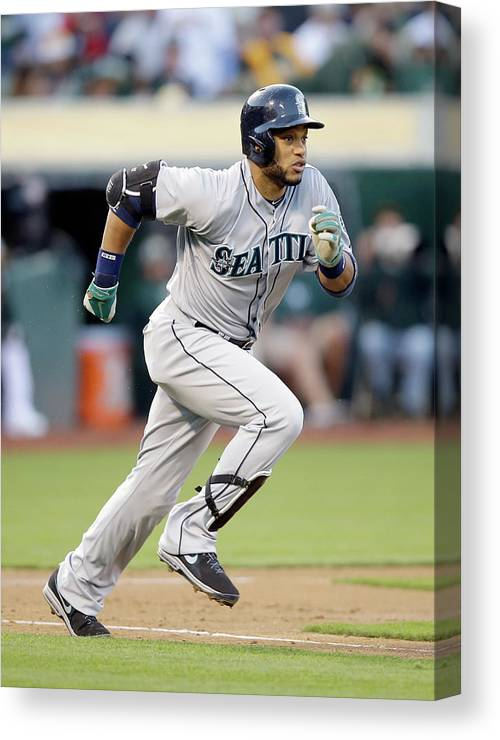 American League Baseball Canvas Print featuring the photograph Seattle Mariners V Oakland Athletics by Ezra Shaw