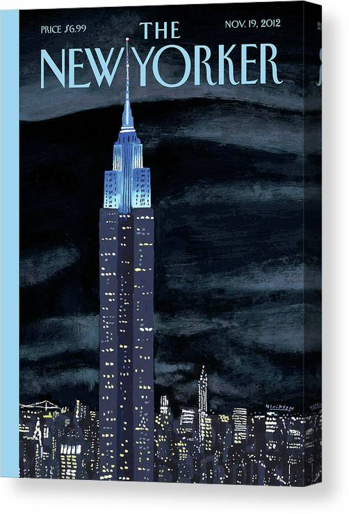 New York City Canvas Print featuring the painting Rhapsody In Blue by Mark Ulriksen