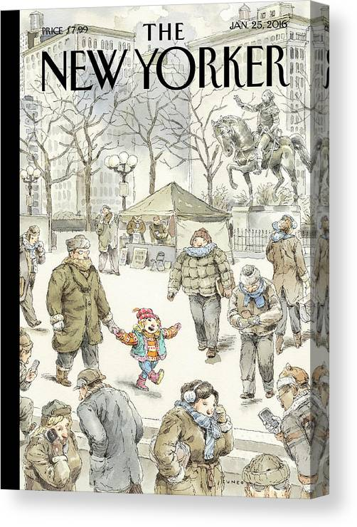 Child Canvas Print featuring the painting Winter Delight by John Cuneo