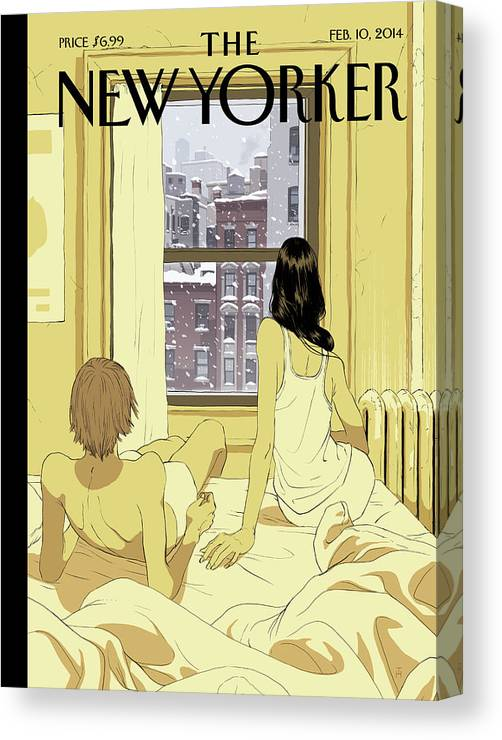 Seasons Canvas Print featuring the painting Perfect Storm by Tomer Hanuka