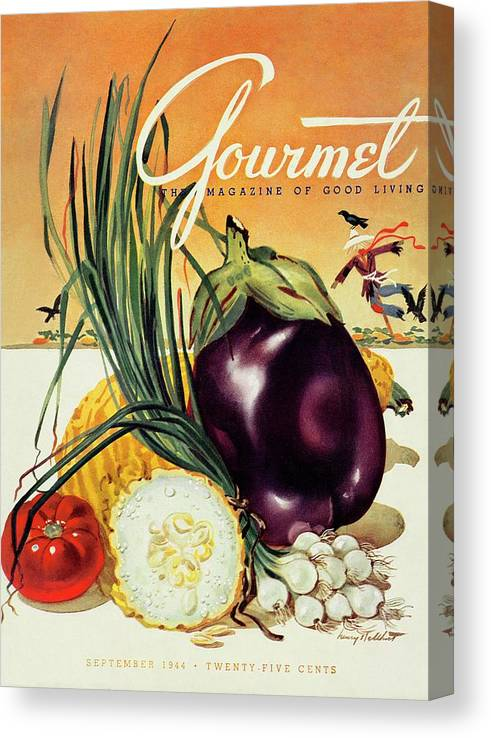 Food Canvas Print featuring the photograph A Gourmet Cover Of Vegetables by Henry Stahlhut