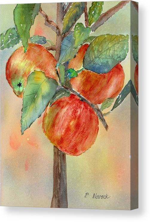Apple Canvas Print featuring the painting Apple Tree by Patricia Novack