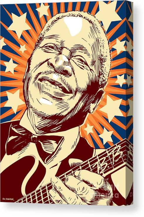 Blues Canvas Print featuring the digital art B. B. King by Jim Zahniser