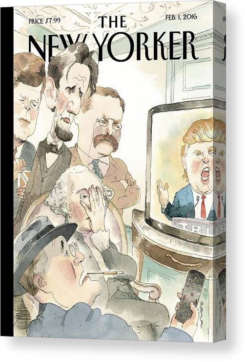 Presidents Canvas Print featuring the painting Bad Reception by Barry Blitt