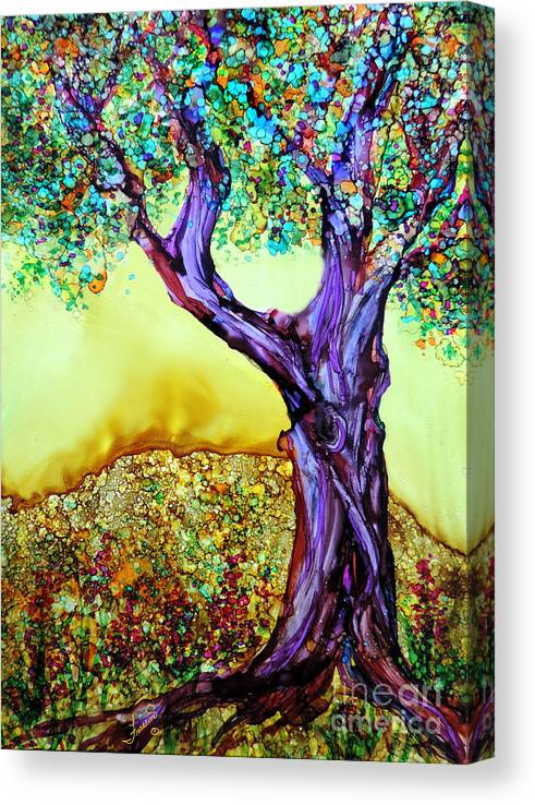 Alcohol Inks Canvas Print featuring the painting Blooming Tree by Francine Dufour Jones