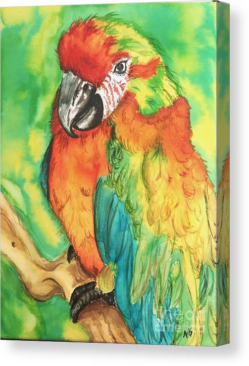 Nature Canvas Print featuring the painting Chico by Norma Gafford
