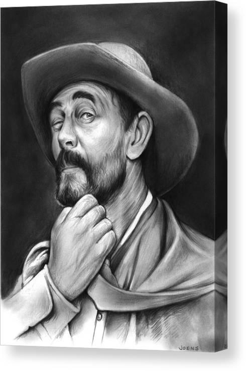 Gunsmoke Canvas Print featuring the drawing Deputy Festus Haggen by Greg Joens