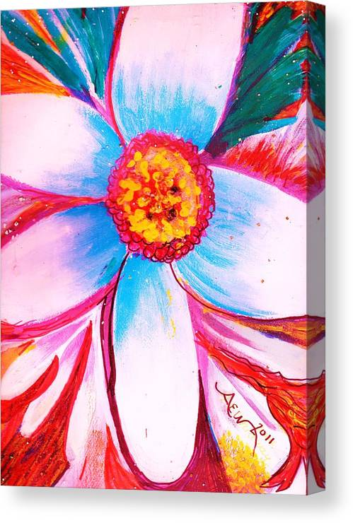 Bloom Canvas Print featuring the mixed media Early Bloomer by Anne-Elizabeth Whiteway