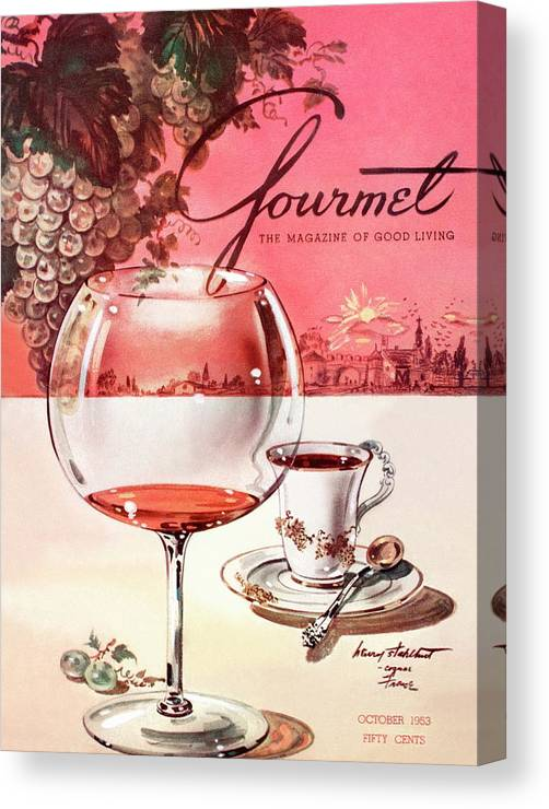 Travel Canvas Print featuring the photograph Gourmet Cover Illustration Of A Baccarat Balloon by Henry Stahlhut