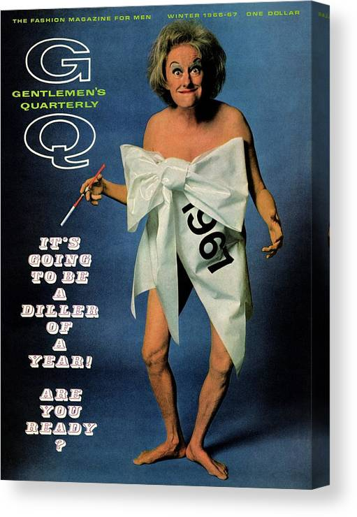 Actress Canvas Print featuring the photograph Gq Cover Featuring Comedienne Phyllis Diller by Carl Fischer
