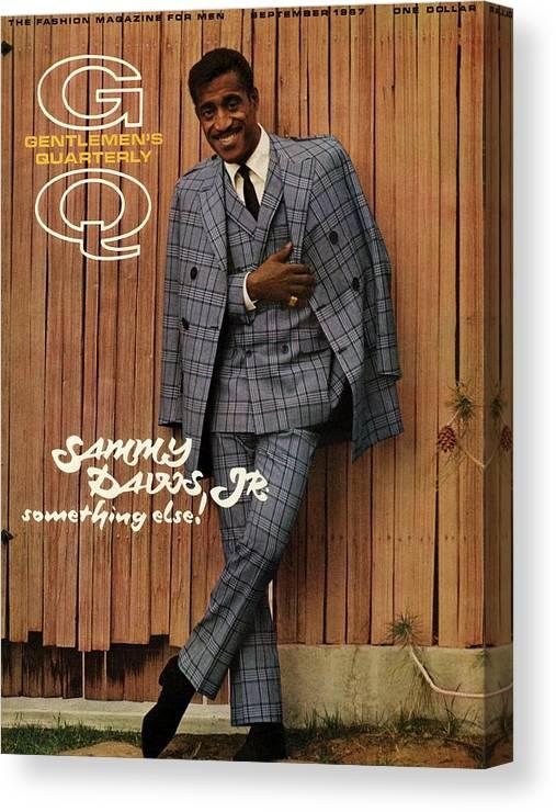 Fashion Canvas Print featuring the photograph Gq Cover Featuring Sammy Davis Jr by Milton Greene