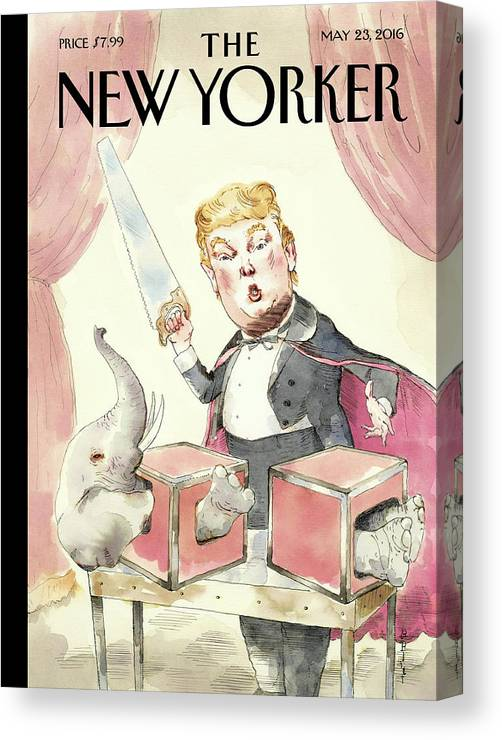 Donald Trump Canvas Print featuring the painting Grand Illusion by Barry Blitt