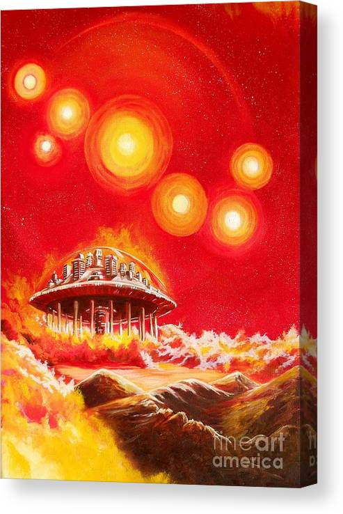 House Canvas Print featuring the painting House of the Rising Suns by Murphy Elliott