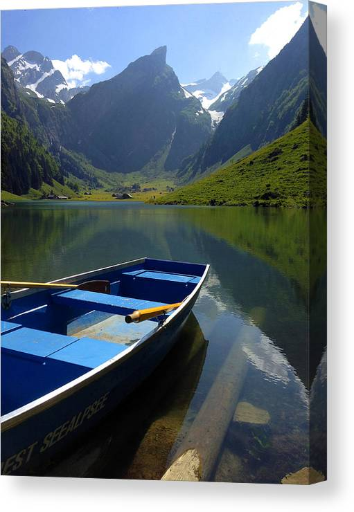 Seealpsee Canvas Print featuring the photograph Lake Seealpsee Alpstein Canton Appenzell Switzerland by PIXELS XPOSED Ralph A Ledergerber Photography