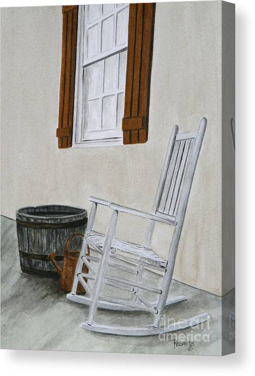 Americana Canvas Print featuring the painting Lazy Day by Regan J Smith
