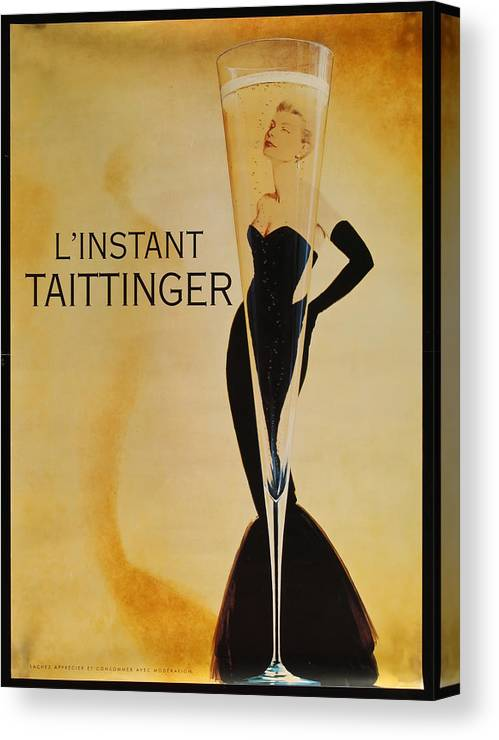 L'instant Taittanger Canvas Print featuring the digital art L'Instant Taittinger by Georgia Fowler