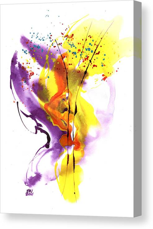 Abstract Canvas Print featuring the painting Liquid Bouquet by Ken Meyer jr