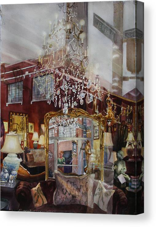 Reflections Canvas Print featuring the painting Mirror Mirror by Carolyn Epperly