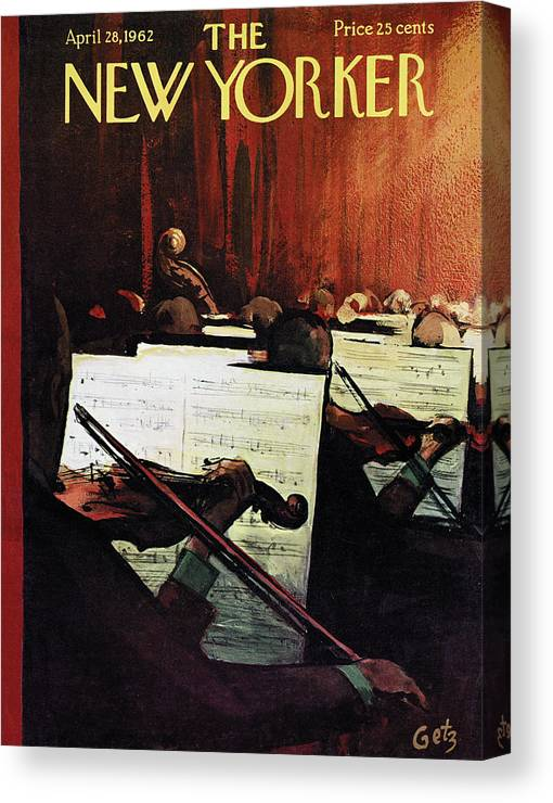 Concert Canvas Print featuring the painting New Yorker April 28th, 1962 by Arthur Getz
