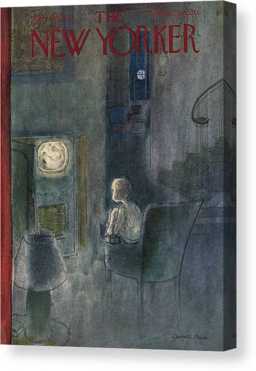 Home Canvas Print featuring the painting New Yorker April 29th, 1950 by Garrett Price