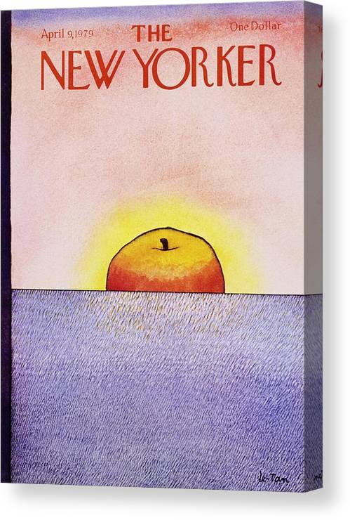 Illustration Canvas Print featuring the painting New Yorker April 9th 1979 by Pierre Le-Tan