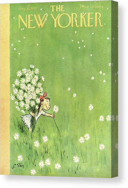 Nature Canvas Print featuring the painting New Yorker August 16th, 1952 by William Steig