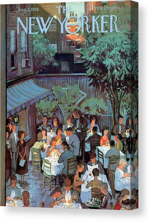 Arthur Getz Agt Canvas Print featuring the painting New Yorker August 2nd, 1958 by Arthur Getz