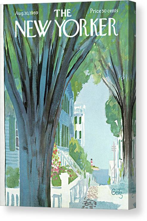Arthur Getz Agt Canvas Print featuring the painting New Yorker August 30th, 1969 by Arthur Getz
