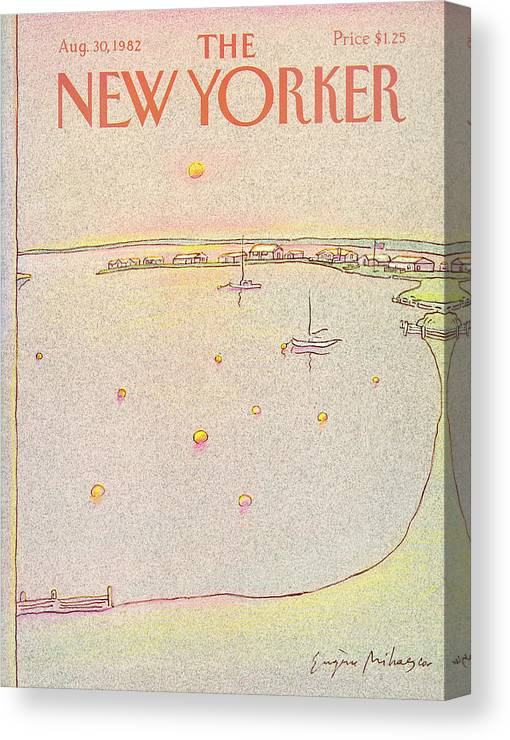 Summer Canvas Print featuring the painting New Yorker August 30th, 1982 by Eugene Mihaesco