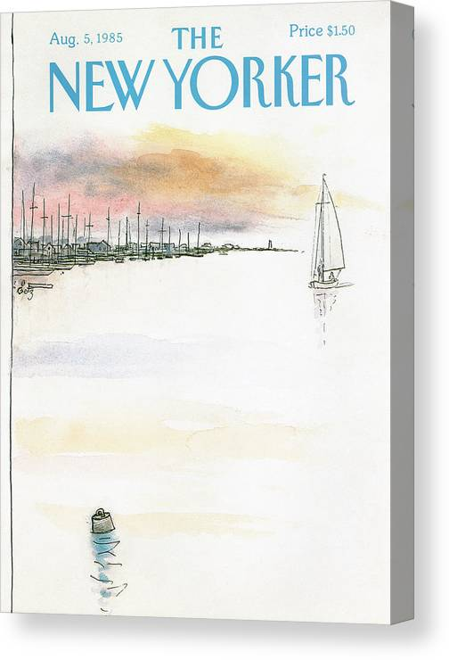 Nature Canvas Print featuring the painting New Yorker August 5th, 1985 by Arthur Getz