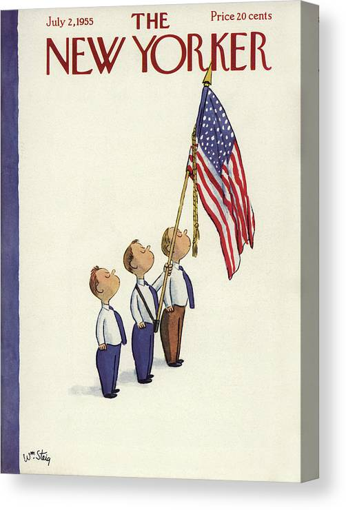 Patriotism Canvas Print featuring the painting New Yorker July 2nd, 1955 by William Steig