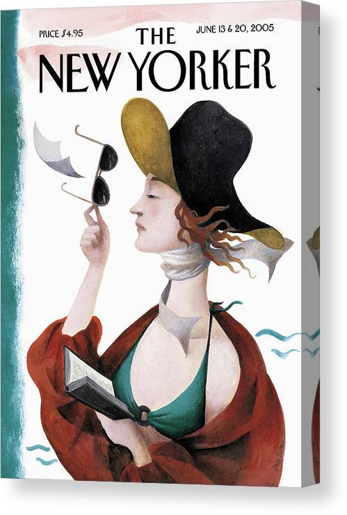 Eustace Tilley Canvas Print featuring the painting Debut On The Beach by Ana Juan