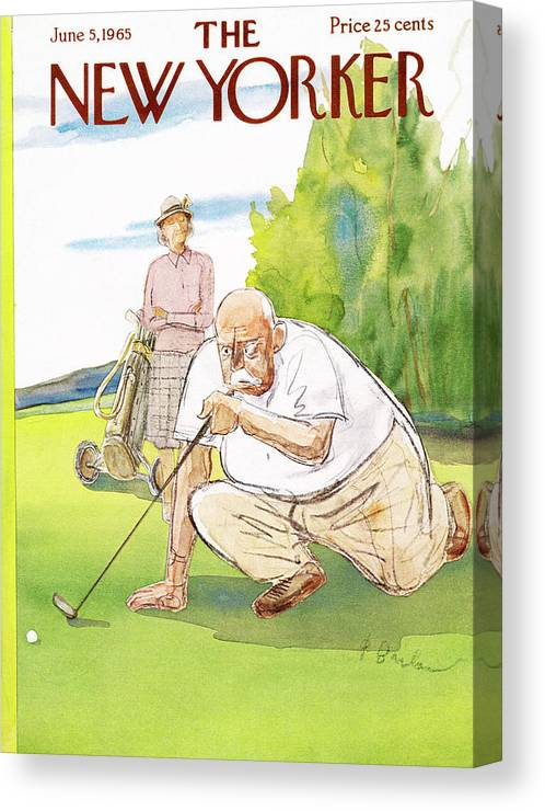 Golf Canvas Print featuring the painting New Yorker June 5th, 1965 by Perry Barlow