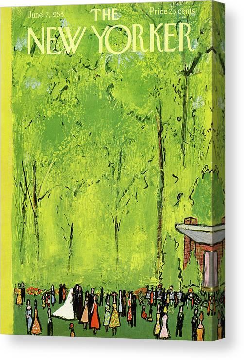 Abe Birnbaum Abi Canvas Print featuring the painting New Yorker June 7th, 1958 by Abe Birnbaum