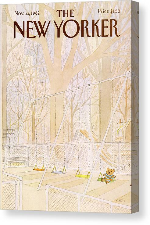 Abandoned Canvas Print featuring the painting New Yorker November 22nd, 1982 by Charles E Martin
