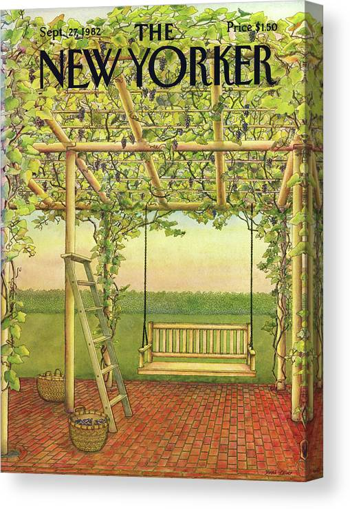 Leisure Canvas Print featuring the painting New Yorker September 27th, 1982 by Jenni Oliver