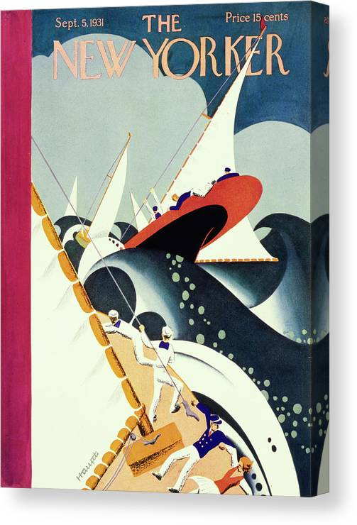 Illustration Canvas Print featuring the painting New Yorker September 5 1931 by Theodore G Haupt