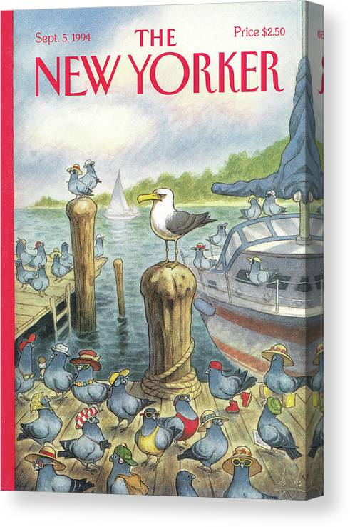 Labor Day Canvas Print featuring the painting New Yorker September 5th, 1994 by Peter de Seve