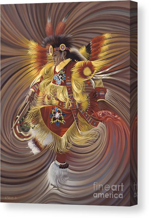 Sacred Canvas Print featuring the painting On Sacred Ground Series 4 by Ricardo Chavez-Mendez