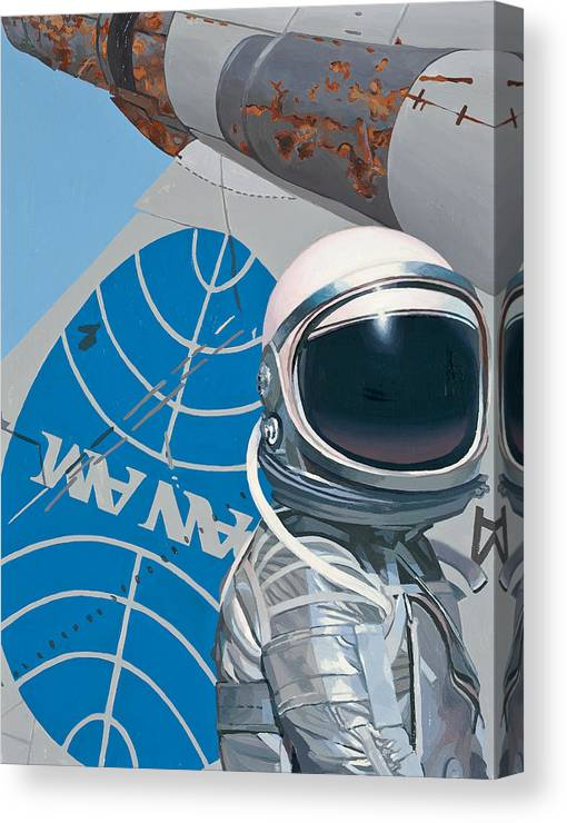 Art Canvas Print featuring the painting Pan Am by Scott Listfield