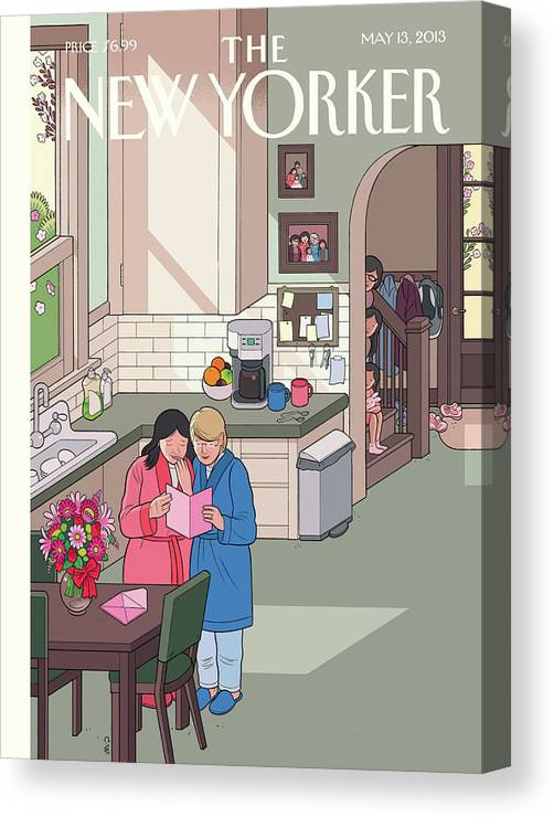 Women Canvas Print featuring the painting Mothers' Day by Chris Ware