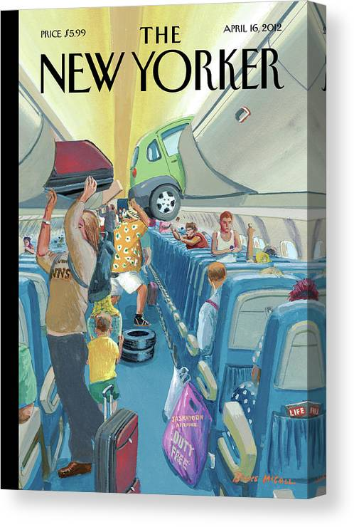 Travel Canvas Print featuring the painting Carry-On Luggage by Bruce McCall