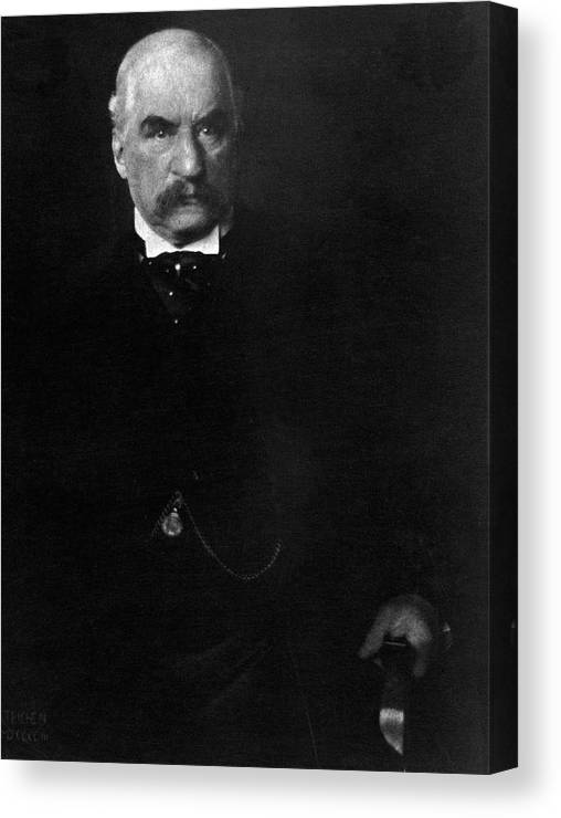 Personality Canvas Print featuring the photograph Portrait Of John Pierpont Morgan by Edward Steichen