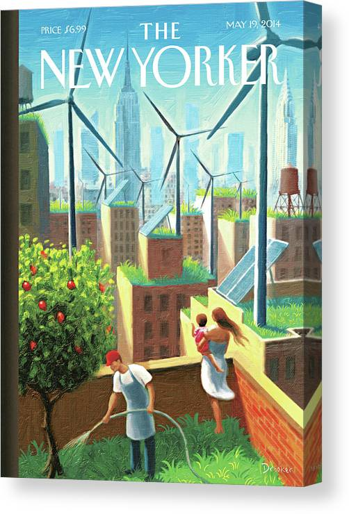 New York City Canvas Print featuring the painting A Bright Future by Eric Drooker