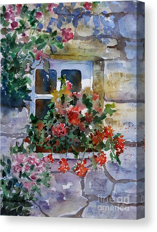 Landscapes Canvas Print featuring the painting Summer Light by Marisa Gabetta