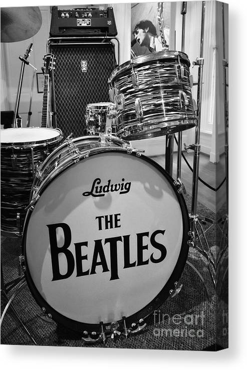 The Beatles Canvas Print featuring the photograph The Beat Goes On by Mel Steinhauer