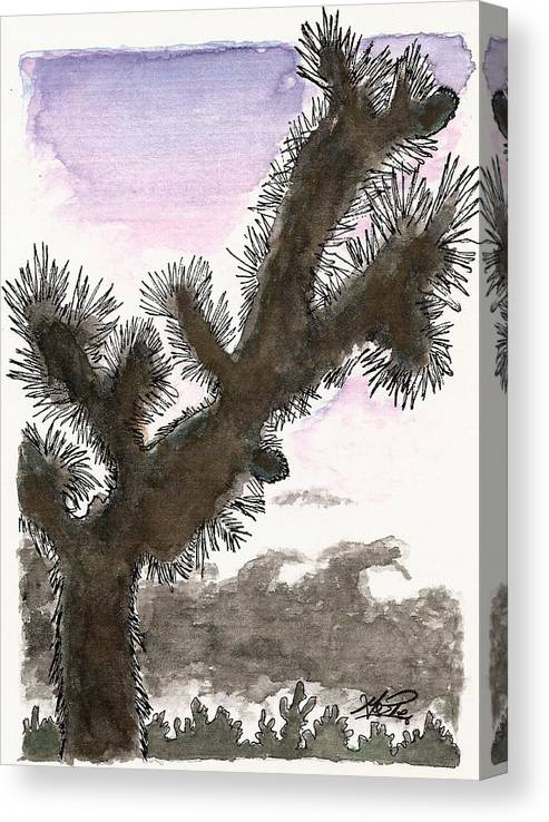 Watercolors Canvas Print featuring the mixed media Tijuana Tree by George I Perez