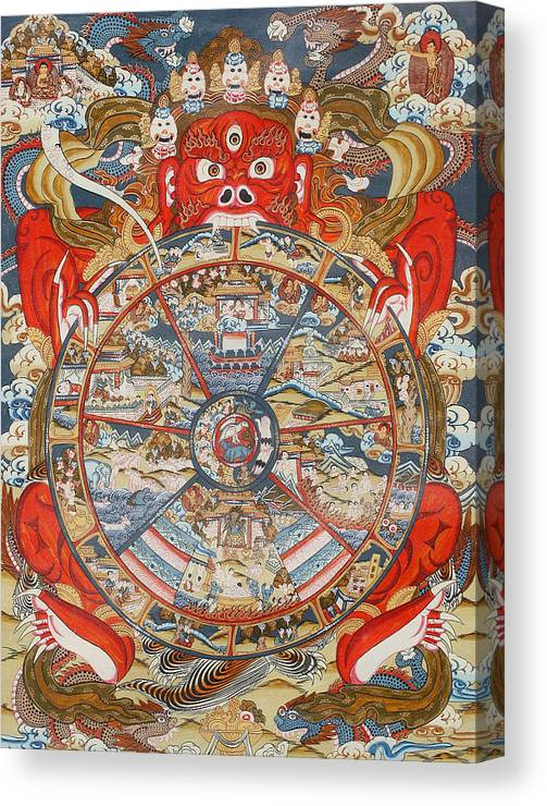 Wheel Of Life Or Wheel Of Samsara Canvas Print Canvas Art By Unknown