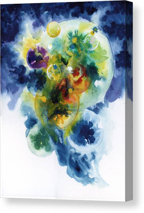 Abstract Canvas Print featuring the painting Worlds Within Worlds by Ken Meyer jr